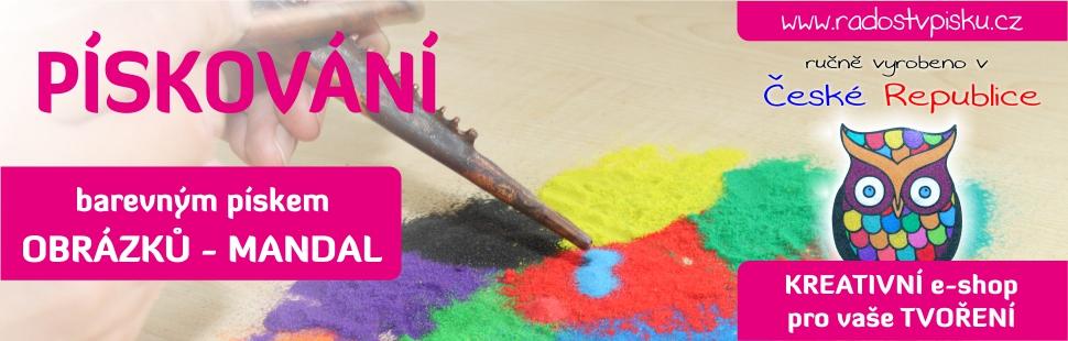 Radost v písku - pískování obrázků a mandal.